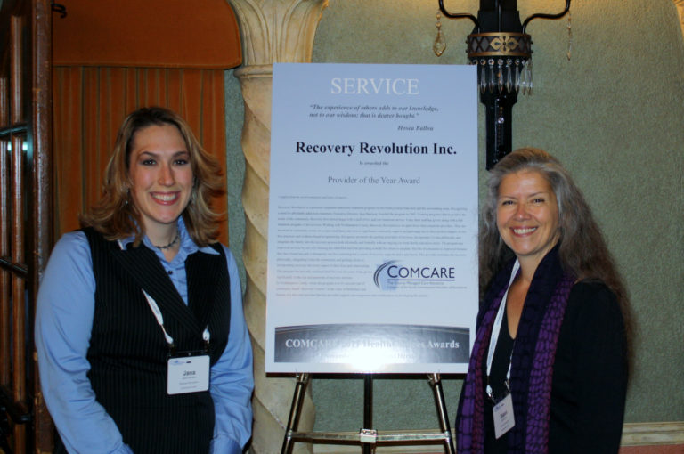 "Recovery Revolution Received ""HealthChoices Provider of the Year"" Award from COMCARE"