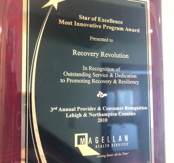 "Recovery Revolution Awarded the ""Star of Excellence"" Award for ""Most Innovative Program"""